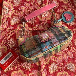 Dooney & Bourke rainbow purse mini top zip NWT